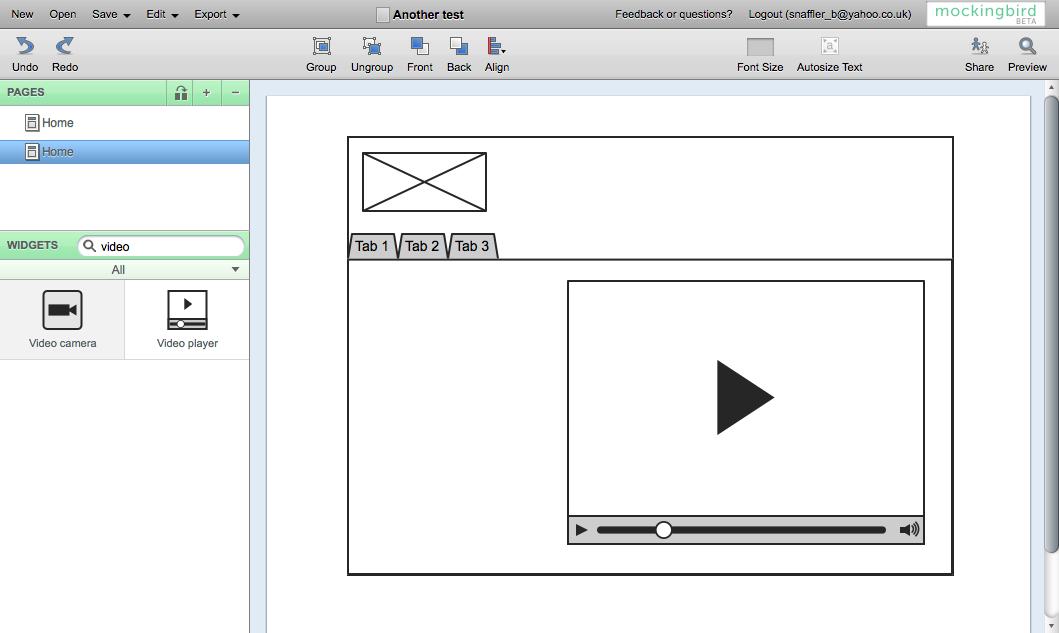 screen shot of the mockingbird application