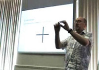 Picture of Jon Dixon doing a presentation