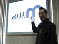 Picture of Jon Don doing a presentation