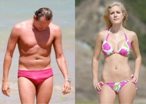 pictures of male and female models in swimwear