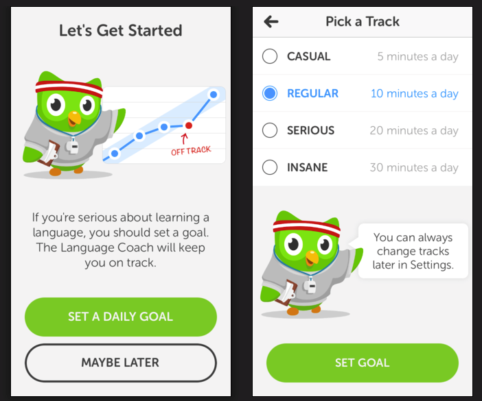 Duolingo goals