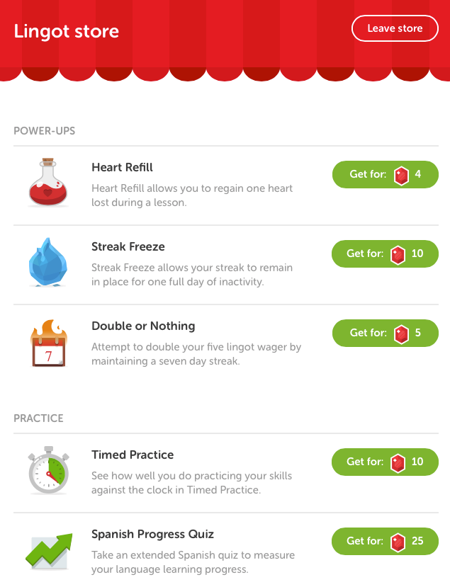 Duolingo store