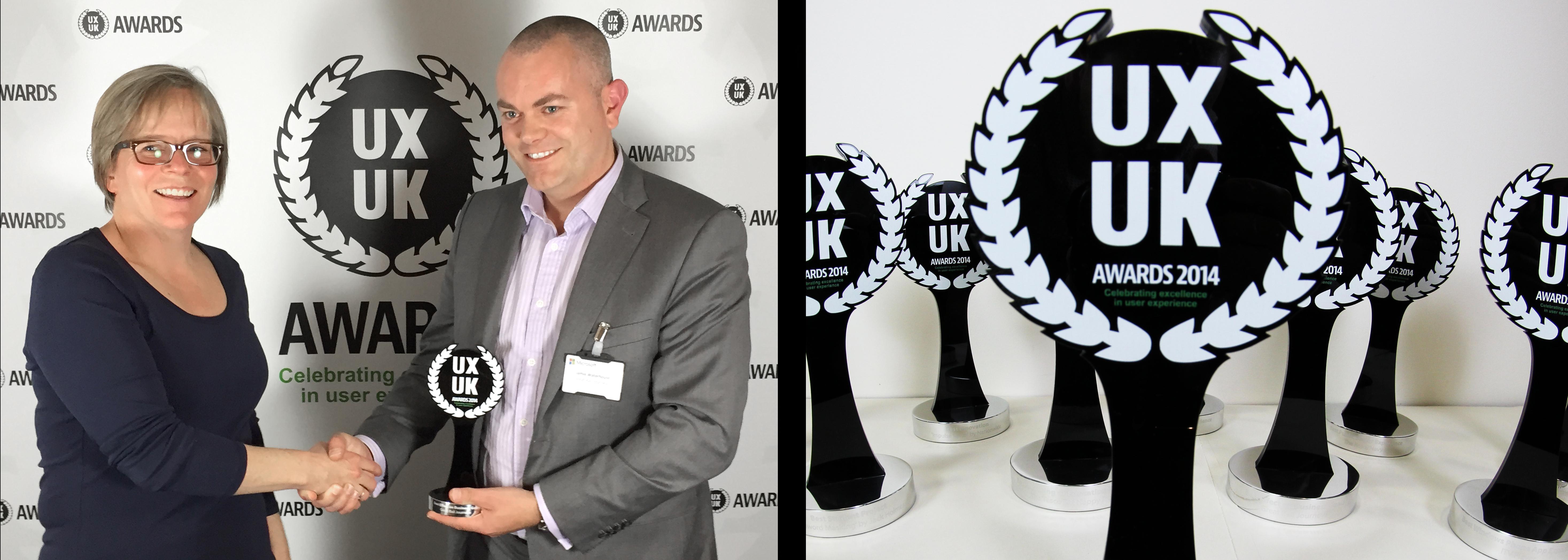 UXUK Awards winner